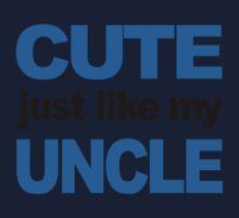 Cute Just Like My Uncle Kids Tee