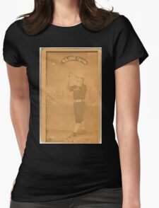 Benjamin K Edwards Collection Thomas Burns Chicago White Stockings baseball card portrait 001 Womens Fitted T-Shirt