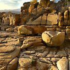 Sunset rockscape - Opossum Bay, Tasmania by clickedbynic