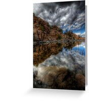 Under Clouds Under Water Greeting Card
