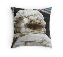 Temple lion 1 Throw Pillow