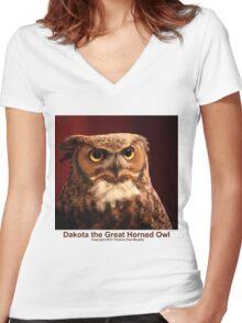 Dakota the Survivor Women's Fitted V-Neck T-Shirt