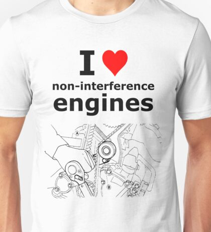 Non-interference Engine Unisex T-Shirt