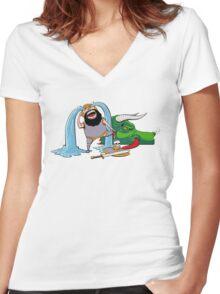 FUS RO ARRGGHHHH Women's Fitted V-Neck T-Shirt