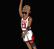 Michael Jordan cartoon by pascoId