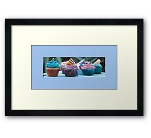 Little Cup Cakes Framed Print