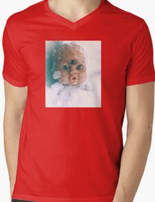 Snow Doll Mens V-Neck T-Shirt