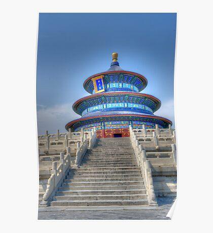 Buddist Temple Poster