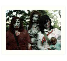 The zombie family Art Print