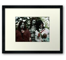 The zombie family Framed Print