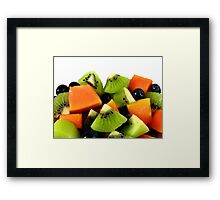 Red Papaya Fruit Salad Framed Print