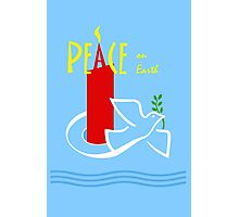 Peace on Earth, Dove and Candle Photographic Print