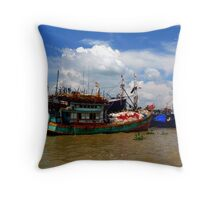Mekong Delta, Vietnam Throw Pillow