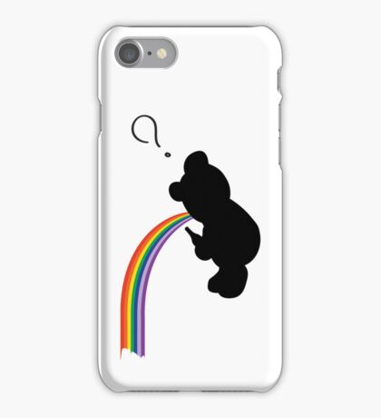 TEDDY RAINBOW VOMIT iPhone Case/Skin