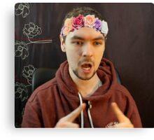 JackSepticEye, Flower Crown #1 Canvas Print