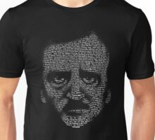 Edgar Allan Poe Nevermore Text Portrait T-Shirt