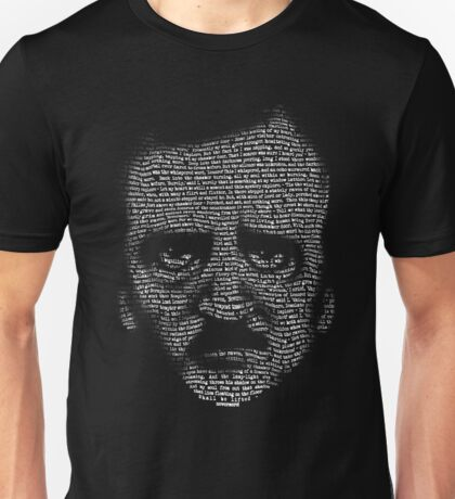 Edgar Allan Poe Nevermore Text Portrait Unisex T-Shirt