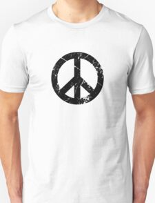 Peace Grunge Symbol (white) T-Shirt