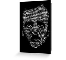Edgar Allan Poe Nevermore Text Portrait Greeting Card