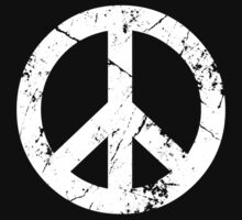 Peace Grunge Symbol by Yiannis  Telemachou