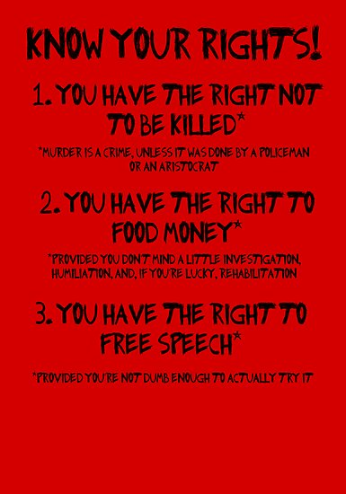 Know Your Rights by Leatherface