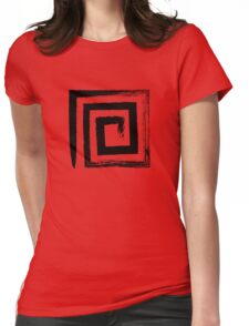 Spiral Square - Black Edition Womens Fitted T-Shirt