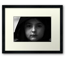 A Niece Plays The Scottish Widow Advert Framed Print