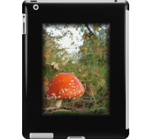 Round red toadstool with white spots iPad Case/Skin