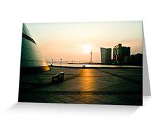 Sunset in Macau Greeting Card