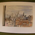 FAMOUS ROOFS OF LONDON UK 2 st pauls drawn froma regular london top floor window by Tuartkatz