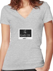 Goth OS (System 7) Women's Fitted V-Neck T-Shirt
