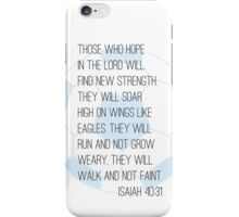 Bible verse + soccer iPhone Case/Skin