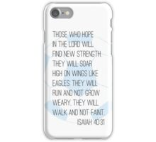 Bible verse + soccer iPhone Case/Skin