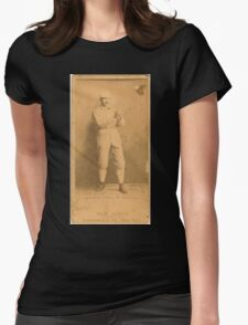 Benjamin K Edwards Collection George Van Haltren Chicago White Stockings baseball card portrait Womens Fitted T-Shirt