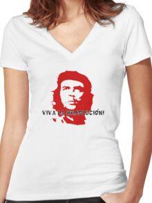 VIVA LA RESOLUCION! Women's Fitted V-Neck T-Shirt