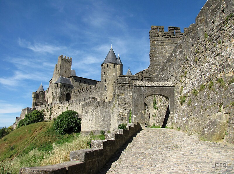 """The Castle Ramparts Carcassonne 2"" by jacqi 