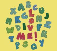 Love Me! alphabet tee One Piece - Short Sleeve