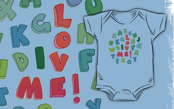 Love Me! alphabet tee by micklyn