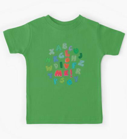 Love Me! alphabet tee Kids Tee