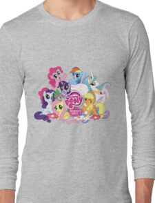 My Little Pony Mane6 and Logo Long Sleeve T-Shirt
