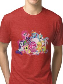 My Little Pony Mane6 and Logo Tri-blend T-Shirt