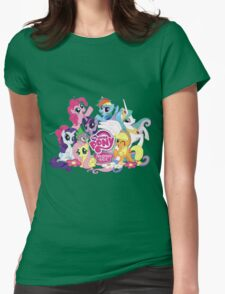 My Little Pony Mane6 and Logo Womens Fitted T-Shirt