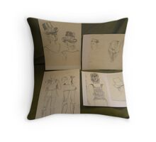 SKETCHES 5 ~ london fashionista's 'all together now' Throw Pillow