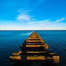 High tide at the old sewage pipe by David Hall