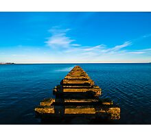 High tide at the old sewage pipe Photographic Print