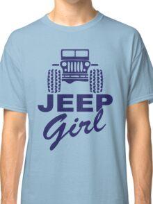 Jeep Girl Purple Classic T-Shirt