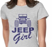 Jeep Girl Purple Womens Fitted T-Shirt