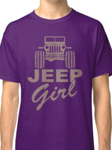 Jeep Girl Brown Classic T-Shirt
