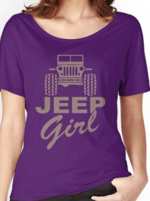 Jeep Girl Brown Women's Relaxed Fit T-Shirt