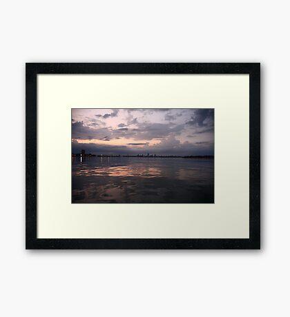 Milwaukee Horizon Cityscape  Framed Print
